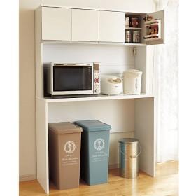 「料理上手は、収納上手」なキッチン収納シリーズ - セシール ■カラー:ホワイト ■サイズ:A(ワゴン/幅113)
