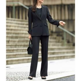 【レディース】 ブラックフォーマルスーツ(ジャケット+パンツ)(リバーシブル胸当て付き)(洗濯機OK) - セシール ■カラー:ブラック ■サイズ:11AR67,19ABR88,23ABR96,15ABR80,17ABR84,9AR64,21ABR92