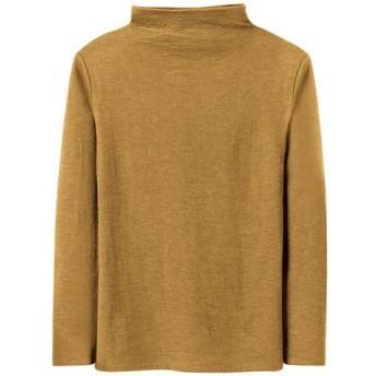 18%OFF【レディース】 接結ウール混Tシャツ(日本製) ■カラー:オリーブイエロー ■サイズ:S,M,3L,4L,LL,L