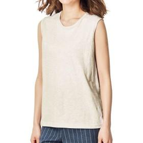 【レディース】 型崩れしにくいSZTシャツ スリーブレス ■カラー:ナチュラル(杢) ■サイズ:M,L,LL,3L