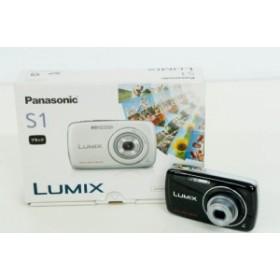 【中古】Panasonicパナソニック コンパクトデジタルカメラ LUMIXルミックス 1210万画素 DMC-S1-K ブラック