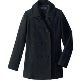 【ティーンズ】 静電気防止機能付き 定番ピーコート(スクール・制服) ■カラー:ブラック ■サイズ:S,L,M,LL