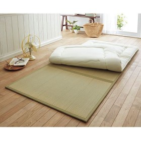 い草三つ折り畳マット - セシール ■サイズ:シングル(100×210cm),セミダブル(120×210cm)
