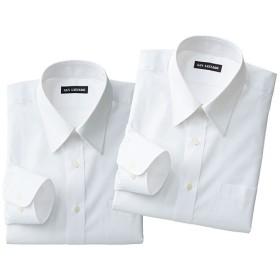 【メンズ】 出張や洗い替えに便利!形態安定Yシャツ2枚組(長袖)(S-5L) - セシール ■カラー:ホワイトA ■サイズ:LL,L,M,3L,5L,4L,S
