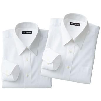 【メンズ】 出張や洗い替えに便利!形態安定Yシャツ2枚組(長袖)(S-5L) - セシール ■カラー:ホワイトA ■サイズ:3L,L,S,5L,LL,M,4L