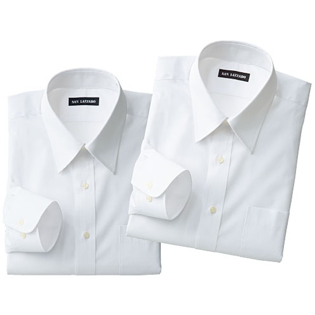 【メンズ】 出張や洗い替えに便利!形態安定Yシャツ2枚組(長袖)(S-5L) - セシール ■カラー:ホワイトA ■サイズ:M,5L,LL,4L,S,3L,L