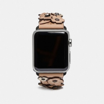 COACH コーチ Apple Watch(R) ストラップ ウィズ クリスタル ティー ローズ