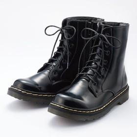50%OFFレースアップエンジニアブーツ - セシール ■カラー:ブラック(ガラス加工) ■サイズ:S(22.0-22.5),M(23.0-23.5)