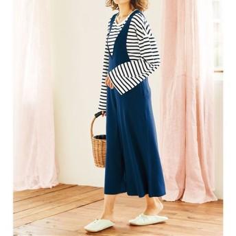 50%OFF【レディース】 ワイドサロペット&Tシャツ - セシール ■カラー:A ■サイズ:M,L,LL