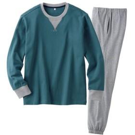 【レディース】 綿100%裏毛スウェットパジャマ(男女兼用) ■カラー:ダークグリーン ■サイズ:M,L,5L,3L,S,LL