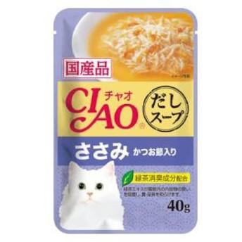 いなばペットフード チャオ だしスープ ささみ かつお節入り 40g CIAO【返品種別B】