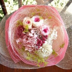プリザーブドフラワー ミニミニブーケ (S) ホワイトデー 母の日 お誕生日 プレゼント インテリアに!