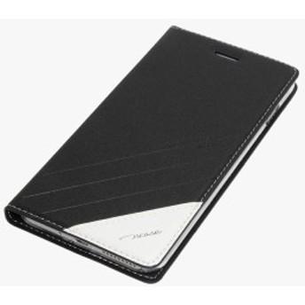 iPhone8 plus / iPhone7 plus 5.5インチ兼用 PUレザーケース スタンド機能付き 手帳型 アイフォン プラス 8/7 ケース 横開き ブラック