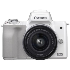 EOS Kiss M【EF-M15-45 IS STM レンズキット】(ホワイト/ミラーレス一眼カメラ)