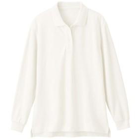 【レディース】 UVカットポロシャツ(長袖)(S-5L) ■カラー:ホワイト ■サイズ:L,4L-5L,LL,M,3L,S,4L-5L