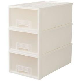 収納ケース(奥行たっぷり60cm) - セシール ■カラー:ホワイト ■サイズ:B(深型2個),A(浅型3個)