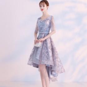 韓国 パーティードレス フィッシュテール ドレス パーティードレス イブニングドレス ワンピース ミニ丈 お呼ばれ 結婚式