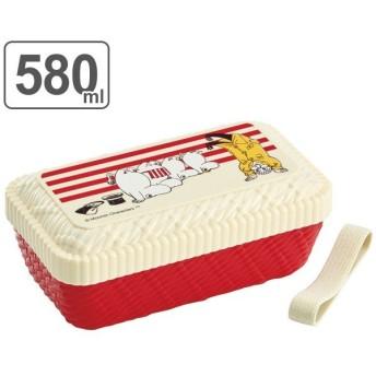 お弁当箱 ラタン風ランチボックス ムーミン ストライプ 580ml 1段 ( 弁当箱 食洗機対応 キャラクター )