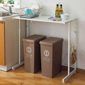 頑丈キッチンラック(幅と高さが調節できる) - セシール ■カラー:ホワイト ■サイズ:A,B