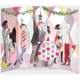 MoMA クリスマスカード ヤドリギ