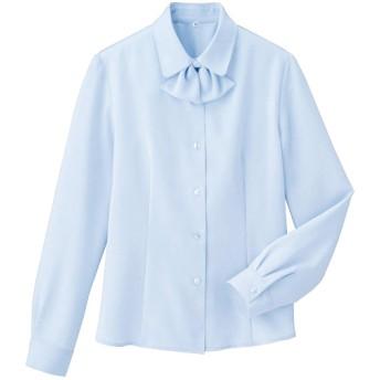 【レディース】 リボンタイ付きブラウス(事務服・洗濯機OK) ■カラー:クリアブルー ■サイズ:3L,S,M,L,LL
