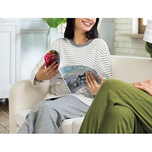 【レディース】 綿100%Tタイプパジャマ(男女兼用) ■カラー:ミディアムグレー ■サイズ:S,M,L,LL,3L,5L