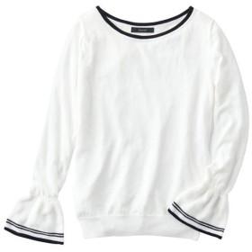 30%OFF【レディース】 フレアスリーブニット - セシール ■カラー:オフホワイト ■サイズ:M,S,L