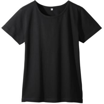 【レディース】 インド綿半袖Tシャツレディース ■カラー:ブラック ■サイズ:M,L,LL,3L