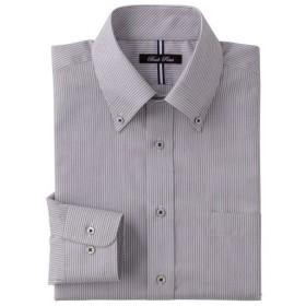 25%OFF【メンズ】 形態安定デザインYシャツ(ベーシックシルエット)(長袖) ■カラー:グレー系 ■サイズ:45(裄丈86)
