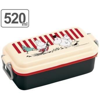 お弁当箱 ホーロー風1段ランチボックス 1段 520ml ムーミン ストライプ ( 弁当箱 ランチボックス 電子レンジ対応 )
