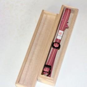 組紐ネックストラップ(カメラ用) 加賀錦桜安良筋(約3分幅、4尺長) SK-1203723