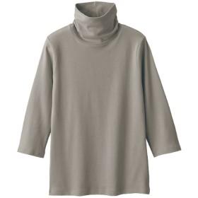 【レディース】 UVカットルーズネックTシャツ(七分袖)(綿100%・2丈展開・S-5L) ■カラー:サンドグレー ■サイズ:S-レギュラー,M-レギュラー,L-レギュラー,4L-5L-レギュラー,LL-レギュラー,3L-レギュラー,S-ロング,M-ロング,L-ロング,4L-5Lロング,3L-ロング,LL-ロング