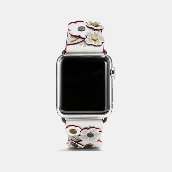 COACH コーチ Apple Watch(R) 38MM ティー ローズ アップリケ レザー ストラップ