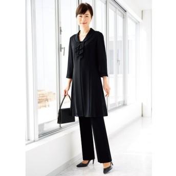 【レディース】 ブラックフォーマル羽織りロングジャケット - セシール ■カラー:ブラック ■サイズ:9号,11号,17号