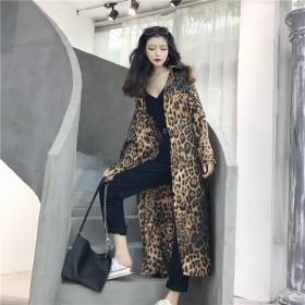 Fashions、2018新品 韓国ファッション CHIC気質 レオパード シャツ 女性らしい トレンチコート