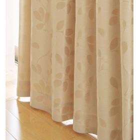 遮熱・1級遮光裏地ライナー付ジャカード織カーテン - セシール ■カラー:ベージュ ■サイズ:幅100×丈135(2枚組)