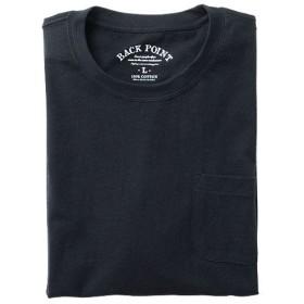【レディース】 オーガニックコットン100%素材のクルーネックTシャツ(7分袖) ■カラー:ブラック ■サイズ:LL,S,M,L,5L,3L,7L
