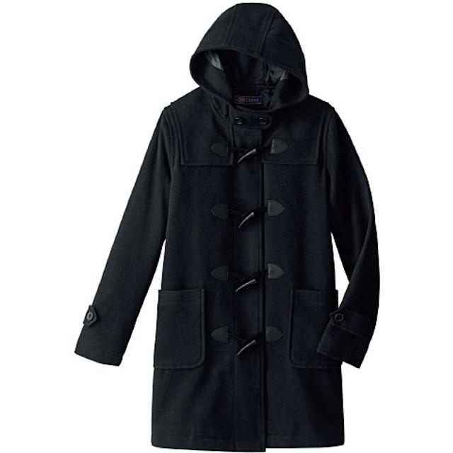 【ティーンズ】 静電気防止機能付き 定番ダッフルコート(スクール・制服) ■カラー:ブラック ■サイズ:L,LL,S,M