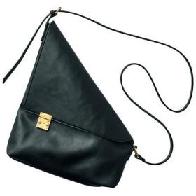 バックルショルダーバッグ - セシール ■カラー:ブラック