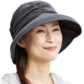 ベルーナ 風が通る5機能UVカット帽子 ブラック 1 レディース