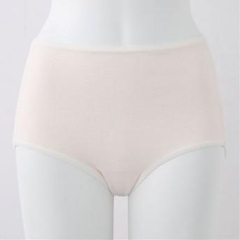 【レディース】 綿100%縫い目が当たりにくいショーツ(はきこみ丈スタンダード) ■カラー:シルクベージュ ■サイズ:M,L,LL,3L