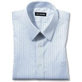 【メンズ】 出張や洗い替えにも便利!形態安定Yシャツ(長袖)(S-5L) ■カラー:ストライプA(レギュラー衿) ■サイズ:M,4L,S,5L,LL,3L,L