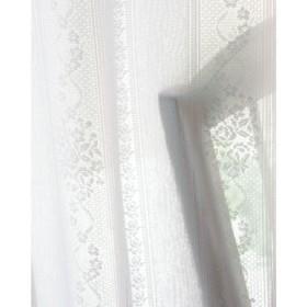 ミラーレースカーテン(バラとストライプ柄・UVカット遮熱保温・遮像) - セシール ■カラー:ホワイト ■サイズ:幅100×丈223cm(2枚組),幅100×丈228cm(2枚組),幅100×丈233cm(2枚組),幅130×丈198cm(2枚組),幅100×丈238cm(2枚組),幅100×丈243cm(2枚組),幅100×丈248cm(2枚組),幅100×丈258cm(2枚組),幅130×丈133cm(2枚組),幅130×丈176cm(2枚組),幅130×丈183cm(2枚組),幅130×丈188cm