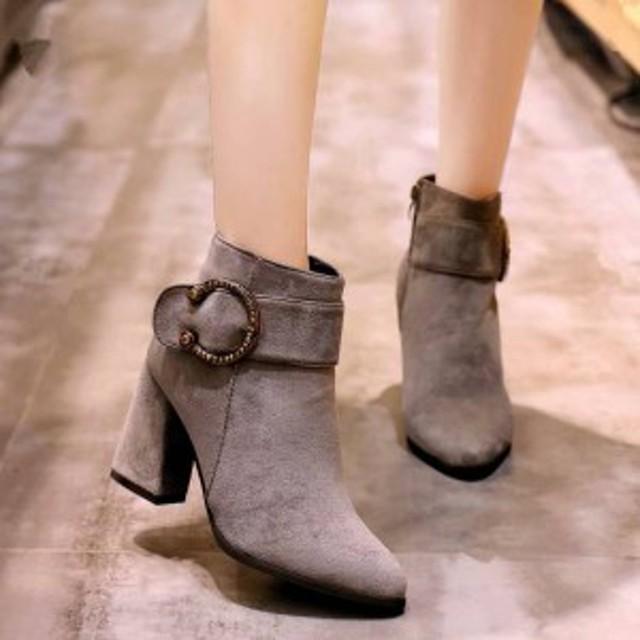 秋冬新作レディースショーツブーツ厚底ブーツ ヒールスブーツヒール8cm靴 防寒ファーシューズx417