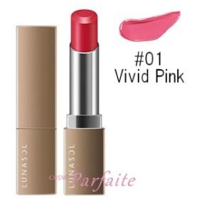 ルナソル -LUNASOL- エアリーグロウリップス #01 Vivid Pink 3.8g [口紅]:【メール便対応】