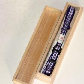 組紐ネックストラップ(カメラ用) 加賀錦古代紫安良柄(約3分幅、5尺長) SK-1503721