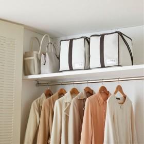 ふとん収納袋 キューブ型 - セシール ■カラー:アイボリー ■サイズ:ダブル,シングル