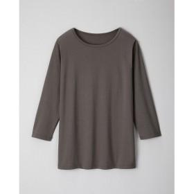 【レディース】 ベーシックな7分袖Tシャツ ■カラー:チョコグレー ■サイズ:M,L,LL