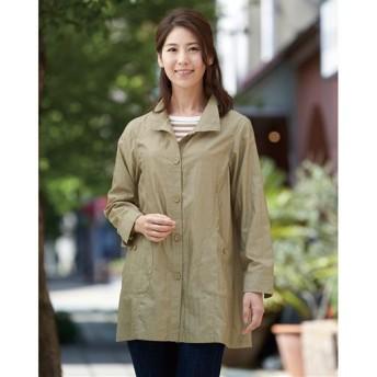 【レディース】 季節の変わり目に重宝するジャケット ■カラー:シナモンベージュ ■サイズ:M,3L