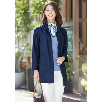 【レディース】 季節の変わり目に重宝するジャケット ■カラー:ネイビー ■サイズ:M,L,LL,3L